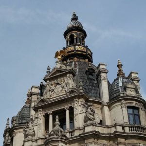 Elaborate roof of a historical building