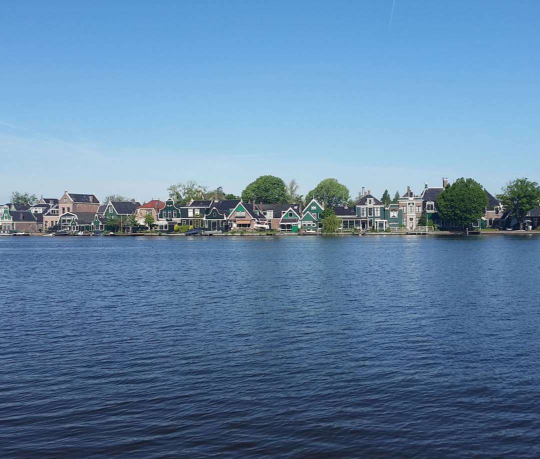 Houses on the other side of the river