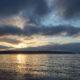 English Bay, sun going down