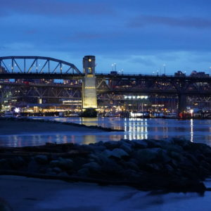 Burrard Bridge, night