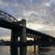 Burrard Bridge, sun going down