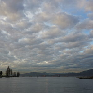 English Bay evening with clouds