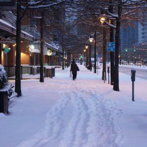 Pacific Street, winter
