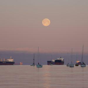 Moon over English Bay