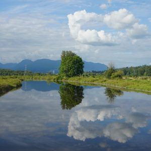 Coquitlam River and reflection
