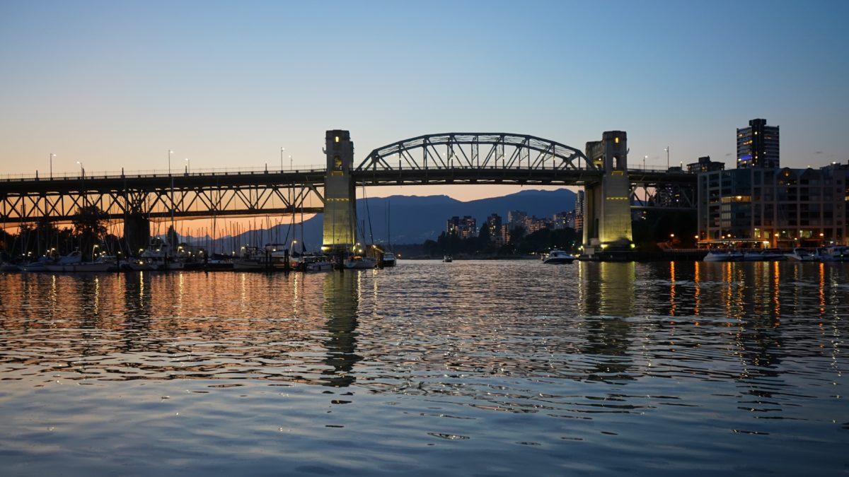 Burrard Bridge sunset