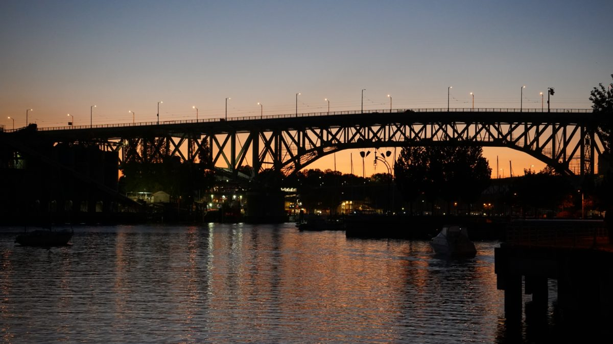 Granville Bridge sunset