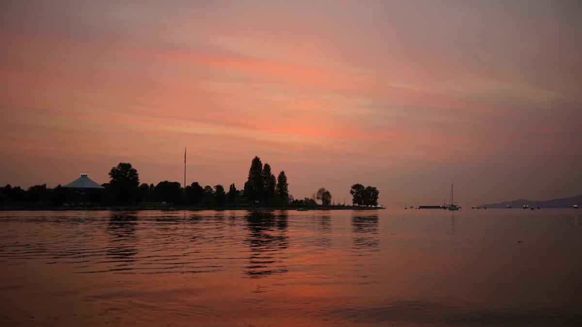 Peach sunset
