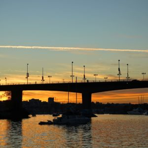 Cambie Bridge sunset