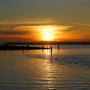 sunset at Crescent Beach
