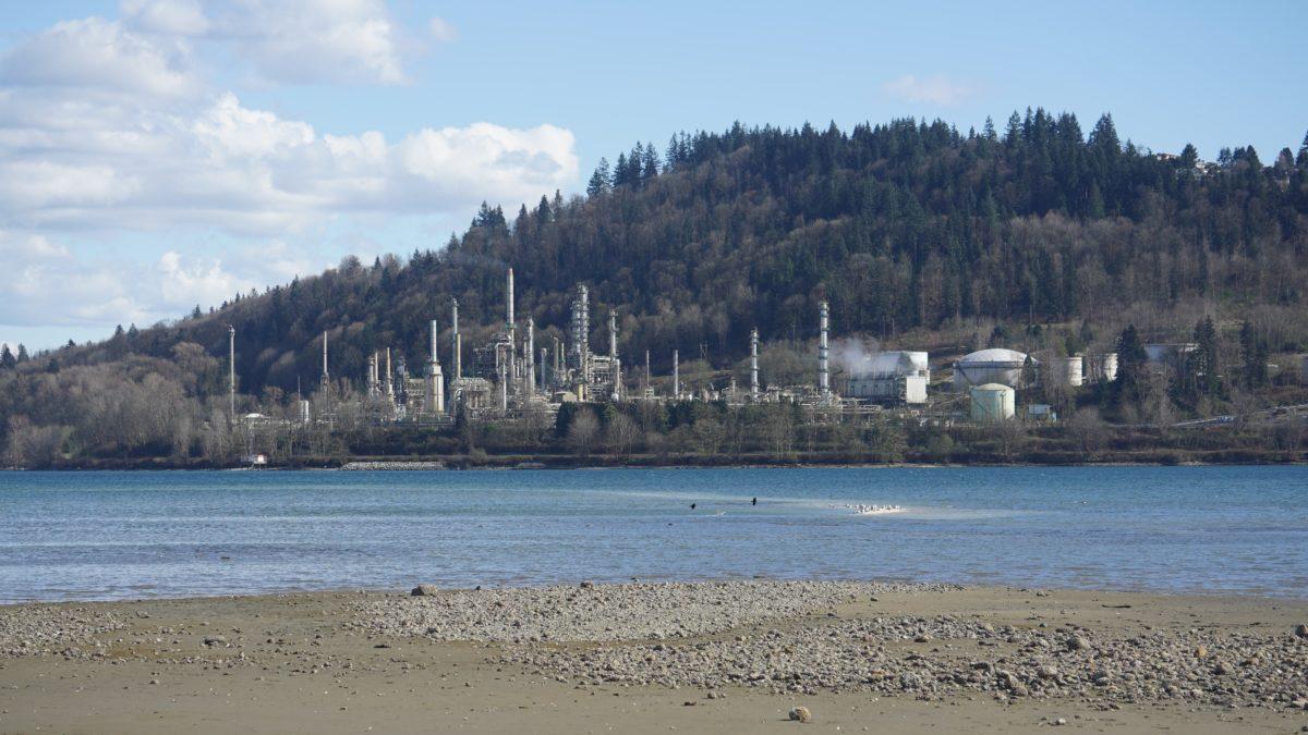 Shellburn Refinery and beach