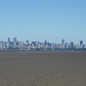 Faraway downtown Vancouver