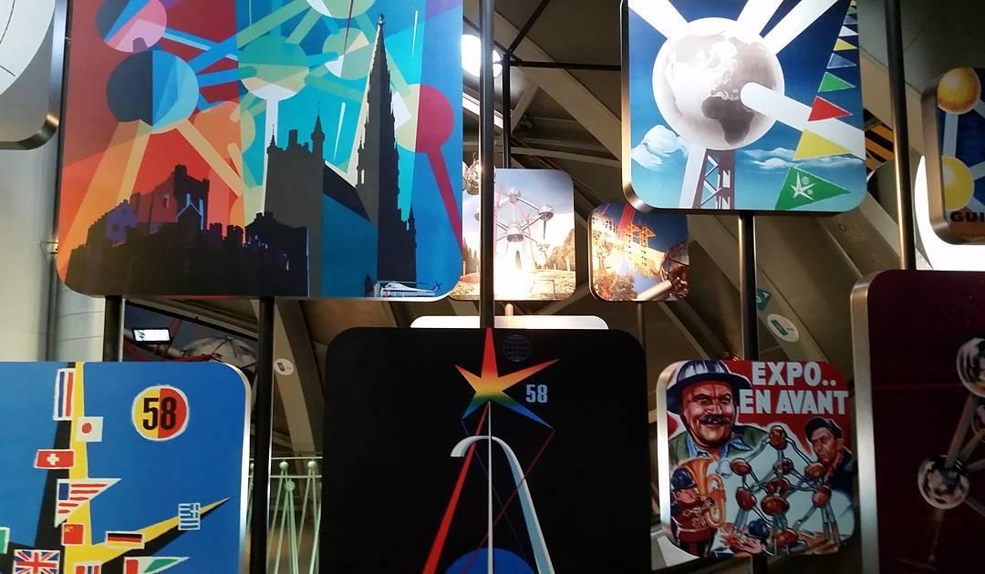 Artwork in the Atomium